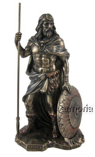 vente statuette figurine dieu nordique baldur aspect bronze. Black Bedroom Furniture Sets. Home Design Ideas