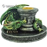 Bougeoir Dragon Flame Keeper, vert