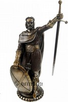 Figurine William Wallace surnommé Braveheart en résine aspect bronze