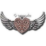 Broche Valkyrie Heart