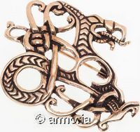 Broche Dragon Viking en bronze