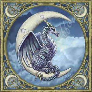 Carte postale Dragon on Moon