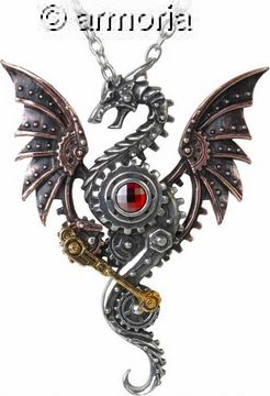 Pendentif dragon steampunk Blast Furnace Behemoth