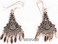 Boucles d'oreilles Viking triangulaires en bronze