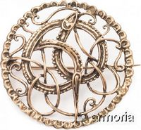 Broche Viking Serpent de Midgard en bronze