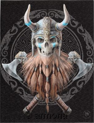 Reproduction sur toile Viking Skull de Anne Stokes