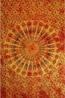 Tenture Badmeri, orange, 140 x 210 cm