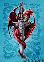Carte Postale Dragon & Dagger