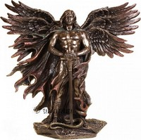 Figurine Archange Metatron en résine aspect bronze