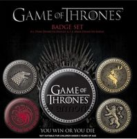 5 Badges Great Houses - Game of Thrones