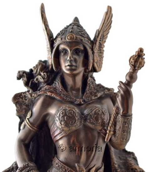 vente statuette figurine d esse nordique frigga frigg aspect bronze. Black Bedroom Furniture Sets. Home Design Ideas