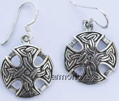 Vente Bijou Boucles d oreilles Croix Celtique avec Noeuds Celtes en ... 615579d050a