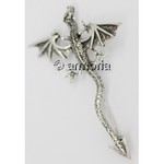 Broche Dragon Volant en argent