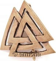 Broche Viking Valknut en bronze