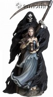 Figurine Femme avec la Faucheuse Summon The Reaper de Anne Stokes