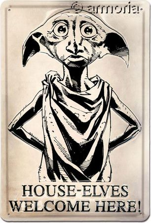 Plaque métal Dobby en 3D - Harry Potter, 20x30 cm