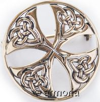 Broche Croix Celtique en bronze