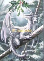Carte Postale Snow Dragon