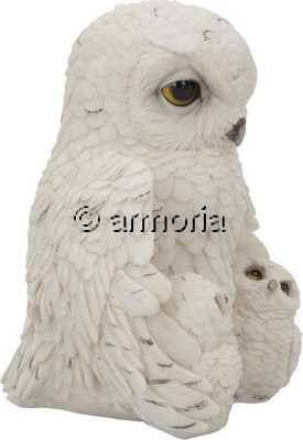 Figurine Famille de Chouettes Blanches